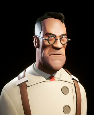 This is a model I sculpted based on the Medic character in Team Fortress 2. This model is rendered in Unreal Engine.