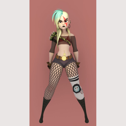 Original character concept by TB Choi Modeling, texturing and renders by me.