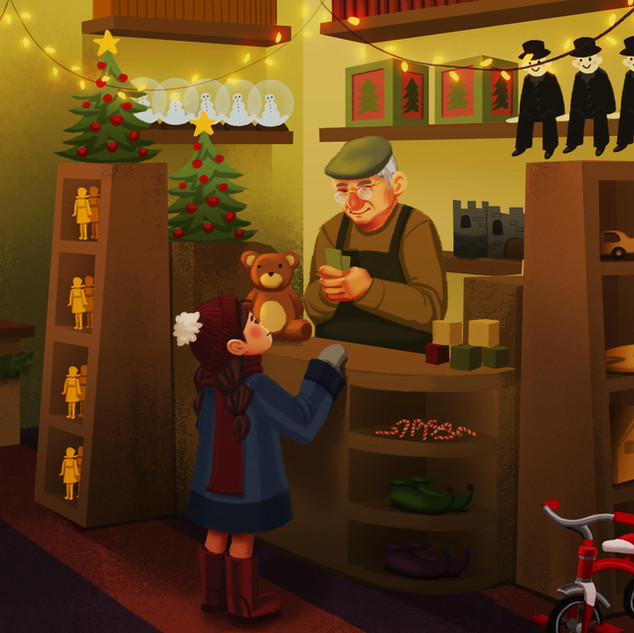 Illustration done by me for the Pixeldust Studios Christmas Card animation.