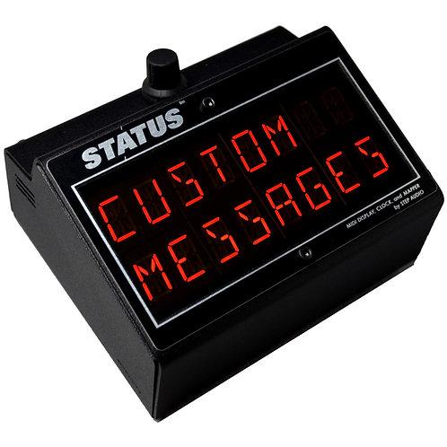 STATUS   MIDI Display, Clock, and Mapper