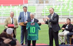 Inauguration Estadio Elias Figueroa