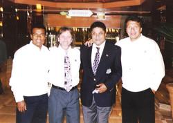 FutbolMasters Founders Teofilo Cubillas, Steve Leighton, Eusebio, Elias Figueroa