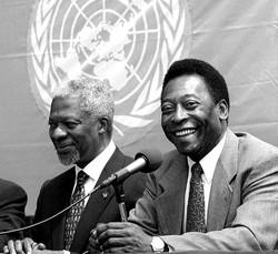 Kofi Annan with Pele