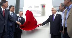 Elias Figueroa Stadium grand opening with Chile President Sebastian Pinera