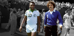 VINTAGE_ Pele and Shep Messing