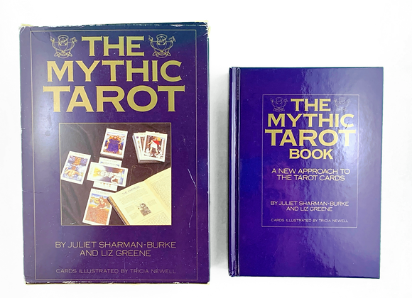 The Mythic Tarot 1996 - Book, cards and reading cloth