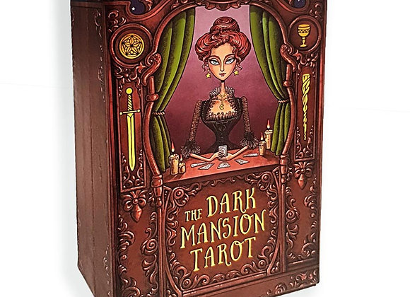 The Dark Mansion Tarot deck - Regular Version 4th. Edition - Gold edges, brown r