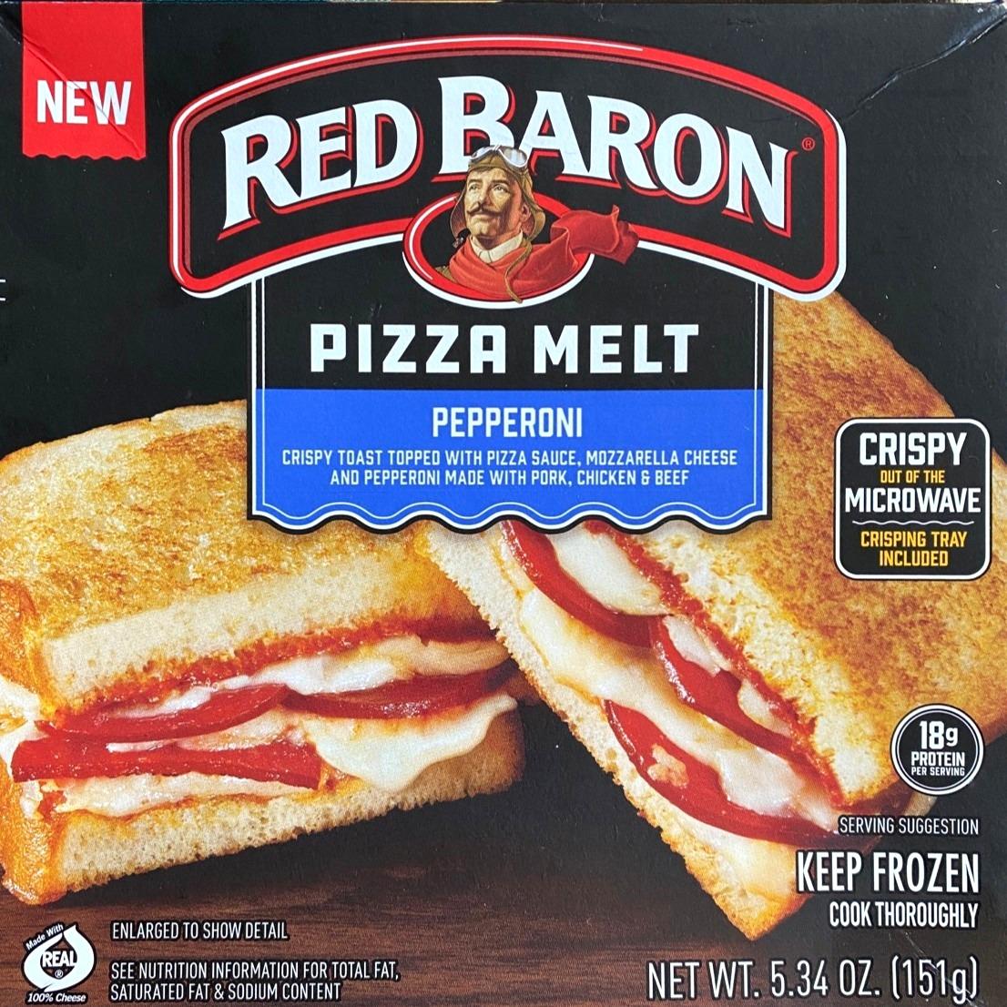 red baron pizza melt box