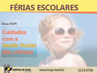 Férias escolares: tenha cuidado com a saúde ocular das crianças