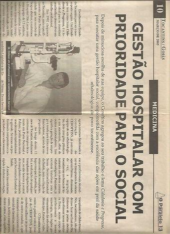 História Hospital de Olhos de Palmas