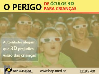 Autoridades alegam que 3D prejudica visão das crianças