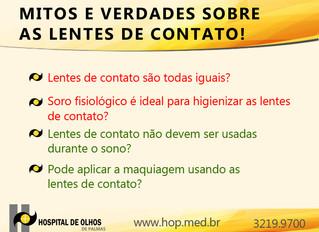 Mitos e verdade sobre as lentes de contato