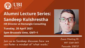 Alumni Lecture Series: Sandeep Kulshrestha