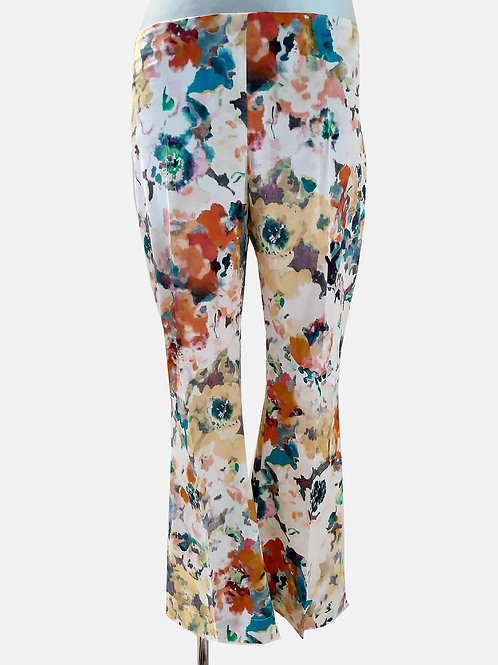 Pantaloni stampa floreale Liviana Conti