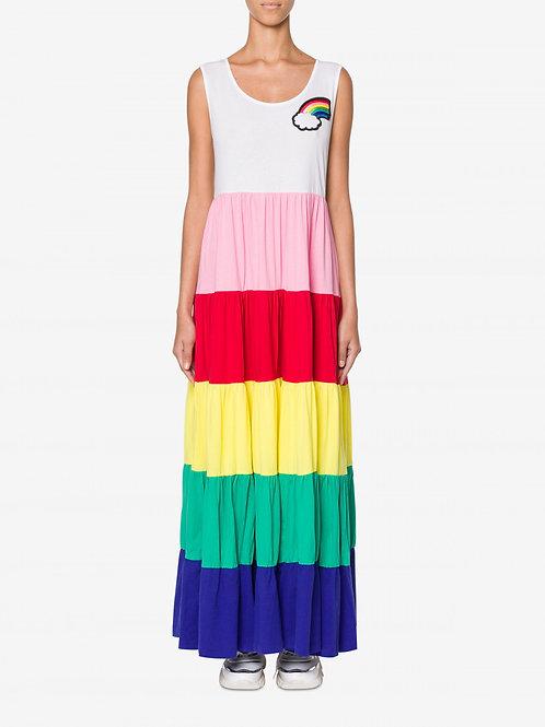 Abito LOVE MOSCHINO a balze arcobaleno