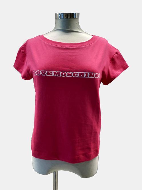 T-shirt in cotone elasticizzato Love Moschino