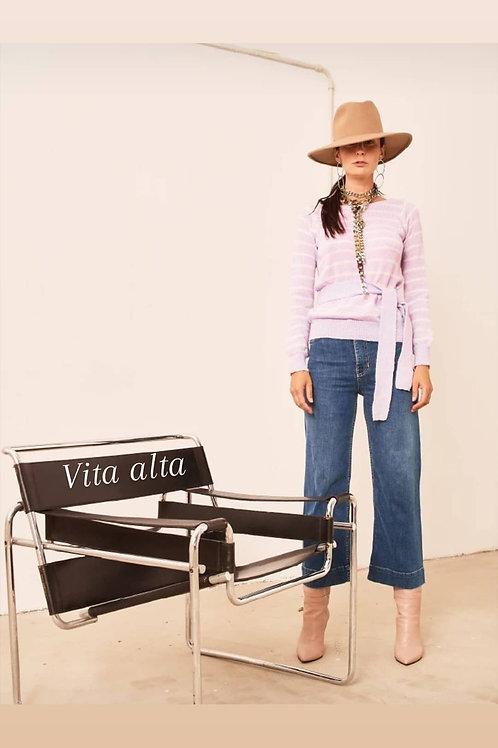 Jeans a palazzo vita alta - Merci Italia