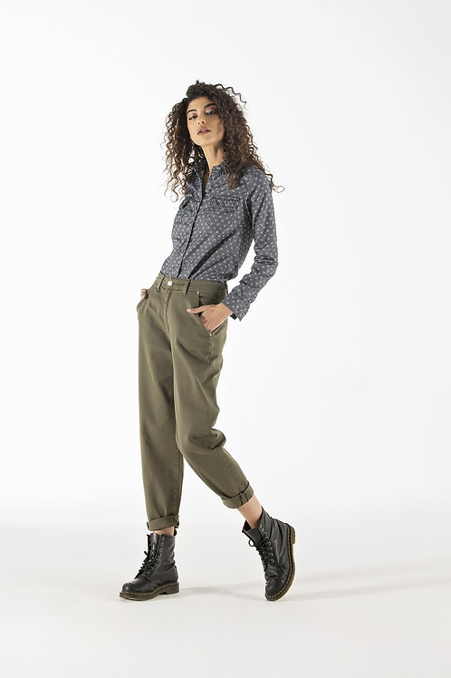 Pantalone in cotone modello work bull - Noir 'n Bleu