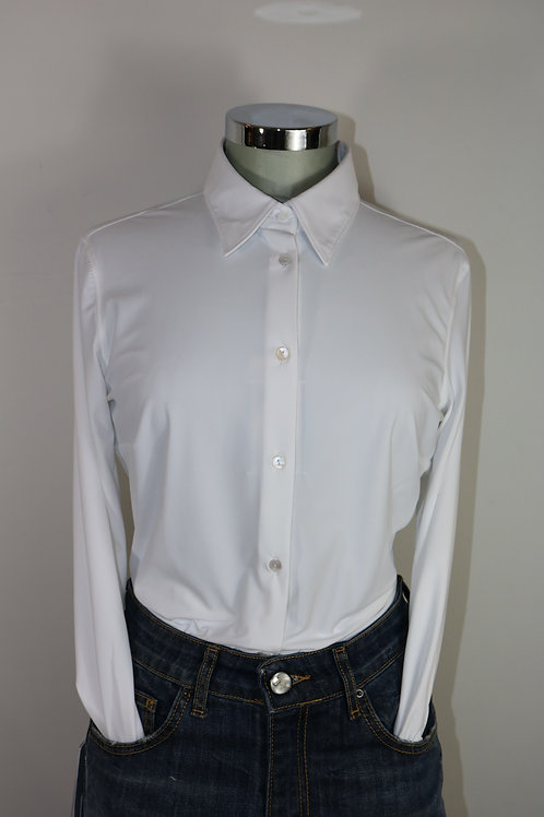 Camicia bianca in tessuto tecnico extra comfort - Camicetta Snob