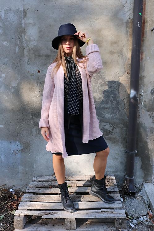Cardigan rosa in misto lana - Merci Italia