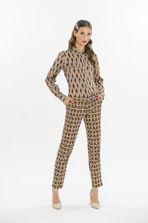 Pantalone damascato - Camicetta Snob
