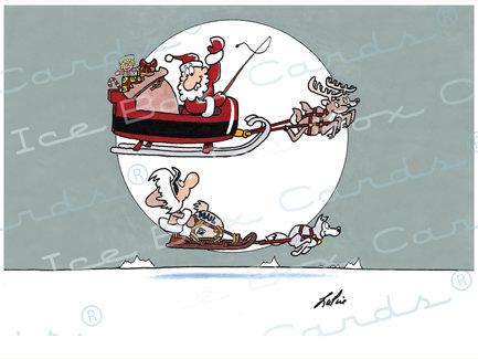 Dueling Santas