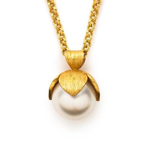 Julie Vos Penelope Pendant Gold Pearl