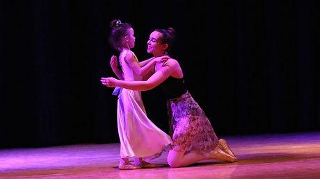 Homeschool Ballet Teacher with Student