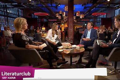 SRF Literaturclub mit Elke Heidenreich, Nicola Steiner, Thomas Strässle und Alain Claude Sulzer