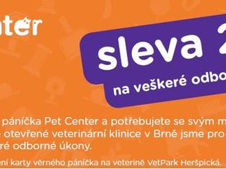 Sleva 20% na odborné veterinární úkony