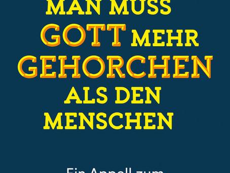 """""""Man muss Gott mehr gehorchen als den Menschen"""" von Ulrich Parzany  #Rezension"""