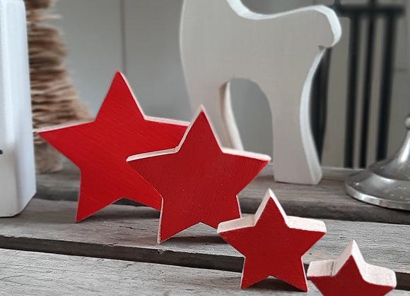 Etoiles rouges x4