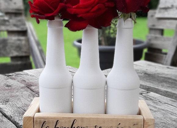 Soliflore personnalisé 3 bouteilles