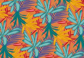 Tropical print worn by Jordyn Woods