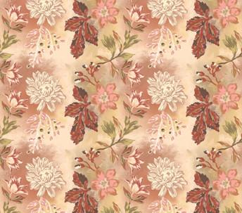 Vintage-Pastel floral print
