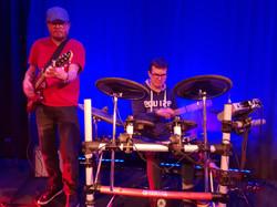 Peter på guitar och jag på trummor