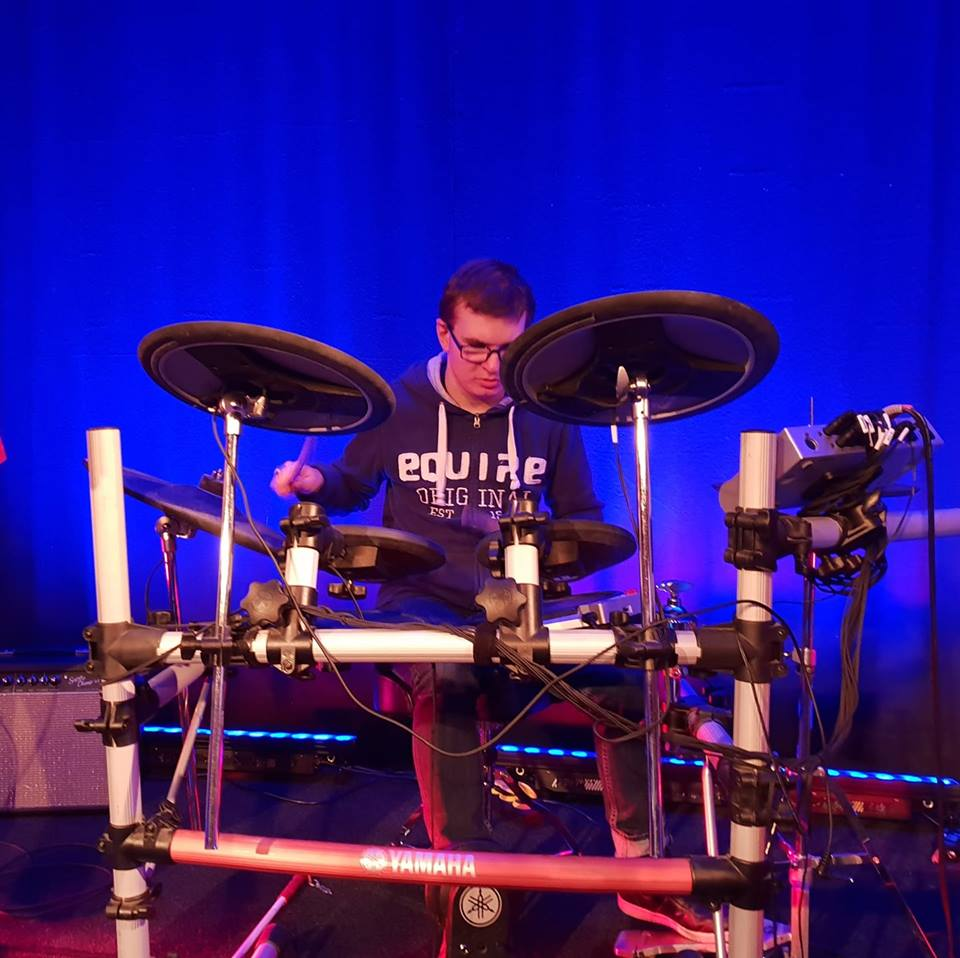 I hit the drums