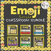 Emoji Classroom Bundle - Emoji Calendar Emoji Name Plates Emoji Alphabet Poster Emoji Hundreds Chart Emoji Welcome Signs Emoji Number Line Emoji Theme Decor Emoji Emoji Poster Mr and Mrs Rooster