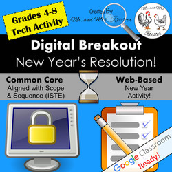 Digital Breakout Escape Room New Year's Eve Mr and Mrs Rooster
