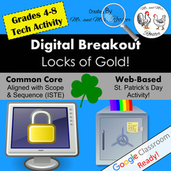 Digital Breakout Escape Room St. Patrick's Day Breakout Mr and Mrs Rooster
