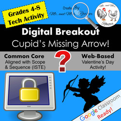 Digital Breakout Escape Room Valentine's Day Mr and Mrs Rooster
