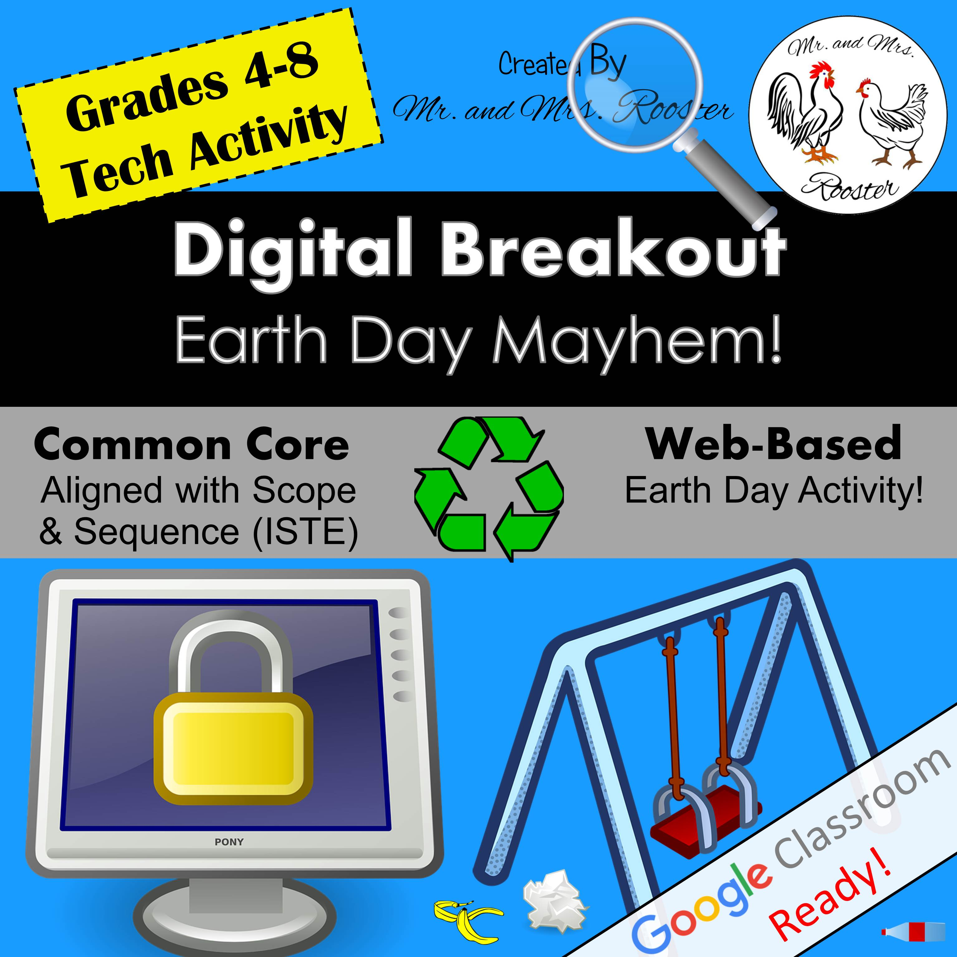Digital Breakout Escape Room Earth Day Breakout Mr and Mrs Rooster