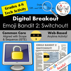 Digital Breakout Escape Room Emoji Switchout Breakout Mr and Mrs Rooster