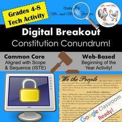 Digital Breakout Escape Constitution Breakout to School Mr and Mrs Rooster