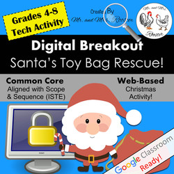 Digital Breakout Escape Room Christmas Mr and Mrs Rooster