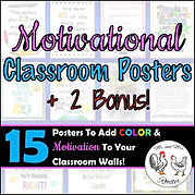Free Classroom Posters Free Classroom Decor Motivational Posters Theme Decor Motivational Classroom Decor Mr and Mrs Rooster