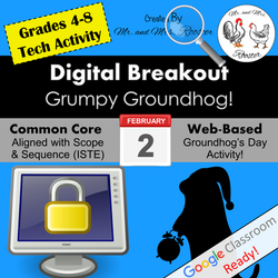 Digital Breakout Escape Room Groundhog Day Breakout Mr and Mrs Rooster