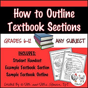 How to Outline Textbook Sections Definitions good visuals tutorial how to take good notes how to highlight a textbook organize text Freshman reading High School Reading summarize text summarize a book outline format how to color code a textbook heading subheading textbook terminology Mr and Mrs Rooster