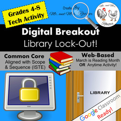 Digital Breakout Escape Room Library Reading Breakout Mr and Mrs Rooster