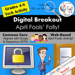 Digital Breakout Escape Room April Fools' Breakout Mr and Mrs Rooster